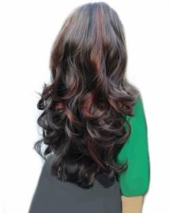 Abrish Clip in wavy burgundy hilight 24 inch Hair Extension