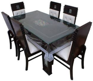 Panipat Textile Hub Solid 6 Seater Table Cover