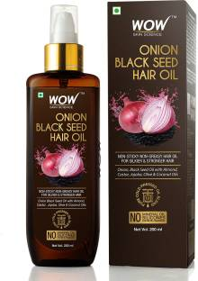 WOW SKIN SCIENCE Onion Hair Oil With Black Seed Oil Extracts - Controls Hair Fall - No Mineral Oil, Silicones & Synthetic Fragrance Hair Oil