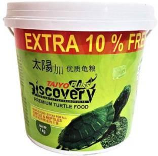 Taiyo Pluss Discovery Turtle Food, 1kg Vegetable 1 kg Dry Adult Turtle Food
