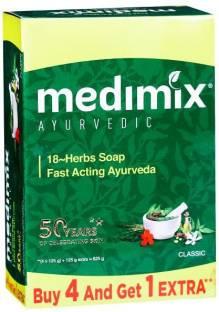 MEDIMIX AYURVEDIC 18 HERB SOAP 125 GM (4+1) PACK