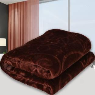 SPANGLE Self Design Single Mink Blanket