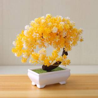 TIED RIBBONS Decorative Showpiece for Home Office Bonsai Artificial Plant  with Pot