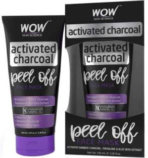 WOW SKIN SCIENCE Activated Charcoal Face Mask - Peel Off - No Parabens & Mineral Oils