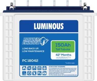 LUMINOUS PowerCharge PC18042 150Ah Tall Tubular Battery Tubular Inverter Battery