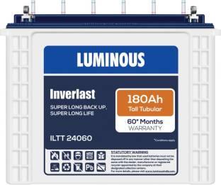 LUMINOUS Inverlast ILTT24060 180Ah Tall Tubular Battery Tubular Inverter Battery