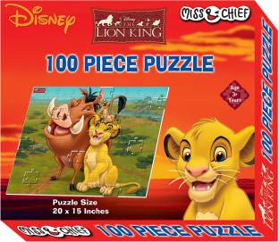 Miss & Chief 100 Piece Puzzle Lion King