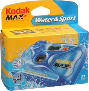 Kodak Sports Waterproof Camera Sport Disposible Camera, 27 Exposure, Waterproof up to 50 feet Instant ...