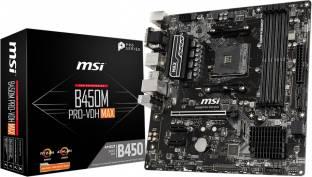 MSI B450M PRO-VDH MAX Mini-ATX AM4 Gaming Motherboard