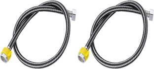 NEW WARE Stainless Steel 304 Connection Pipe 18 inch Premium Heavy Quality (Pack of 2) Hose Pipe