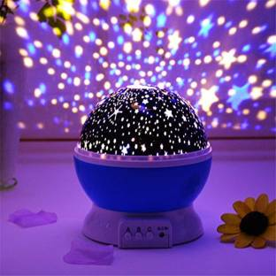 UZAN 360 Degree Rotation - 4 LED Bulbs 9 Light Color ChangingStar Night Light For Kids With USB Cable,Baby Night Lights For Bedroom Decoration, Christmas, Party, BirthdayStar Projector Master For Kids Night Lamp