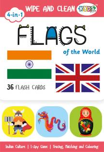 Kyds Play Flags - Wipe & Clean Activity Flash Cards for Kids