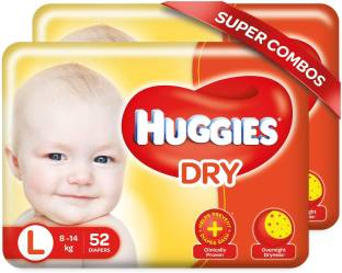 Huggies New Dry with overnight dryness - L