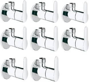 Prestige EVA Pack Of 8 Angle Valve EVA Brass Chrome Plated/Angle Cock For Bathoom/Bathroom Taps/Angle ...