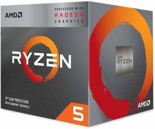 amd Ryzen 5 3400G with Radeon RX Vega 11 Graphics & Wraith Spire Cooler (YD3400C5FHBOX) 3.7 Ghz Upto 4.2 GHz AM4 Socket 4 Cores 8 Threads 2 MB L2 4 MB L3 Desktop Processor
