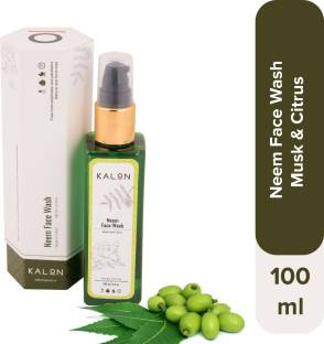 Kalon Neem  – Musk & Citrus, for Acne Control, Pimple Control, Oil Control and Purification, Free from Sulphate and Parabens, Australia Certified Toxin-Free, for both Men & Women, 100 ml Face Wash