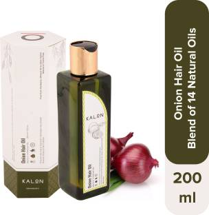 Kalon Onion Hair Oil – Blend of 14 Essential Oils, Controls Hair Fall and Promotes Hair Growth, Free from Parabens and Mineral Oil, Australia Certified Toxin-Free, for both Men & Women, 200 ml Hair Oil
