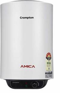 CROMPTON 10 L Storage Water Geyser (Amica ASWH-2010 10-L, Black, White)