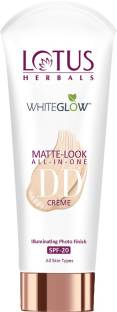 LOTUS HERBALS WhiteGlow Matte Look All in One DD Creme SPF 20 - Natural Beige