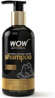 WOW SKIN SCIENCE Activated Charcoal & Keratin Shampoo - 300mL