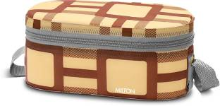 MILTON Steel Lunch Box with Bag, 500 & 280 ml each 3 Containers Lunch Box