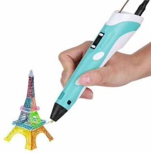 KRH STORE 3D Pen-2 Professional | 3D Printing Drawing Pen with 3 x 1.75mm ABS/PLA Filament for Creative Modelling, Project and Education Purpose Pack of 1 3D Printer Pen