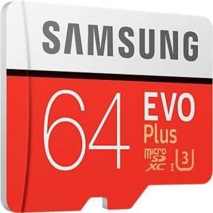 Samsung EVO PLUS 64  GB MicroSD Card Class 10 95 MB/s Memory Card