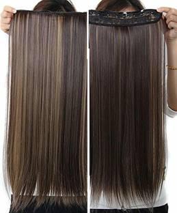 D-DIVINE Natural Feel Golden Highlight Clip On Straight Hair Extension