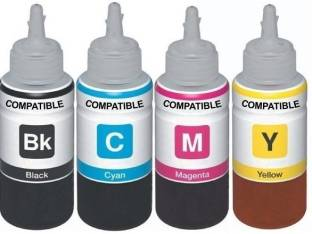 KATARIA Refill Ink For Use In Canon PIXMA All in One Printer MG2570S - Cyan, Magenta, Yellow & Black - 100 ML Each Tri-Color Ink Bottle