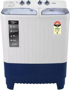 MarQ By Flipkart 8.5 kg 5 Star Rating Semi Automatic Top Load White, Blue