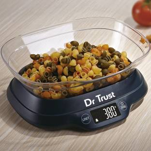 Dr. Trust (USA) Modern Electronic Digital Black LCD Precision Kitchen Food Accurate Weight Machine Water Milk Liquids Weighing Scale
