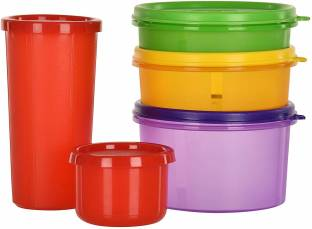 Cutting EDGE (Pack Of 5) (Multicolor) (535 ML, 290 ML, 190 ML, 310 ML, 150 ML) BPA-Free | Air Tight | Food Saver Containers | Leakproof | Kitchen Food Left Over | Multi Purpose Polypropylene Fridge Container  - 535 ml, 290 ml, 190 ml, 310 ml, 150 ml Polypropylene Grocery Container