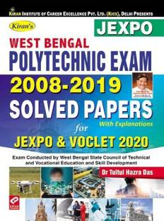 Kiran West Bengal Polytechnic Exam 2008 - 2019 Solved Papers for JEXPO and VOCLET 2020 English(2830)