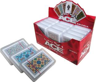 The Ace Card company Pack of 3 Pure Plastic Playing Card Decks Washable