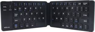 Portronics POR-973 Chicklet Wireless Rechargeable Foldable Keyboard Wireless Multi-device Keyboard