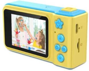 V.T.I Mini Digital Camera for Kids with Expandable Memory - Blue/Yellow Kids Camera Point & Shoot Came...