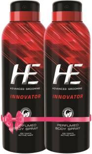 HE Innovator, 150 ml Pack of 2 Body Spray  -  For Men