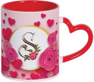 Wagwan Letter S Alphabet Best Gift for Girlfriend Boyfriend Husband Wife on Valentine's Day Special Mg671 Ceramic Coffee Mug