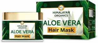 Himalayan Organics Aloevera Hair Mask with Bhringraj | No Parabens & Sulphates - 200ml