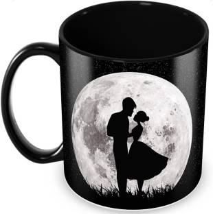 """Tuelip """"Moon Love"""" Quote Printed for Valentines Day Gift, Tea and Coffee Ceramic Coffee Mug"""
