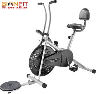 BIONFIT | Air Bike Fitness Exercise Cycle For Home | With Twister & Back Support | Sturdy Upright Stationary Exercise Bike