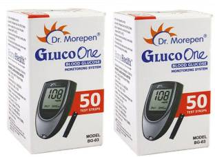 Dr. Morepen Gluco One 100 Strips 100 Glucometer Strips