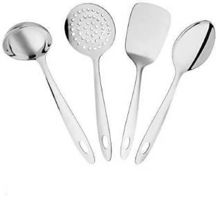 Homeeware Stainless Steel Kitchen Tools Set (4 Pieces) Stainless Steel Kitchen Tools Set (4 Pieces) Silver Kitchen Tool Set