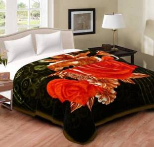 YESTIC Floral Double Mink Blanket