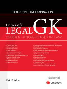 Universal's LEGAL G K GENRAL KNOWLEDGE ON LAW FOR COMPETITIVE EXAMINATIONS