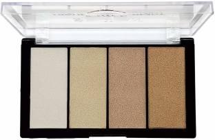 Shryoan 4 Shimmer Powder Highlighter Palette/Makeup Set for Face Highlighter
