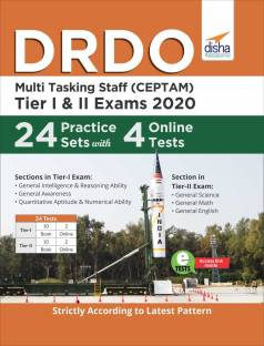 DRDO Multi Tasking Staff (CEPTAM) 2020 Tier I & II Exam 24 Practice Sets with 4 Online Tests
