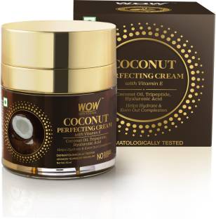 WOW SKIN SCIENCE Coconut Perfecting Cream with Vitamin E for Hydration & Even Complexion - No Sulphate, Parabens, Silicones & Color - 50mL