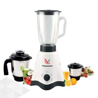 vistara Eco Prime 600W 600 W Mixer Grinder (3 Jars, White)
