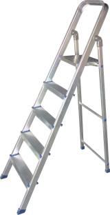 HOMEMATE 5 STEP ANODISED SILVER Aluminium Ladder